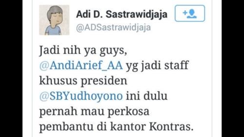 Serang Andi Arief, Netizen: Dia Dulu Pernah Mau Perkosa Pembantu di Kantor Kontras