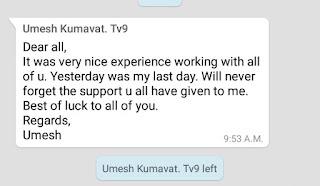 TV9 Marathi managing editor Kumawat resigns within a month