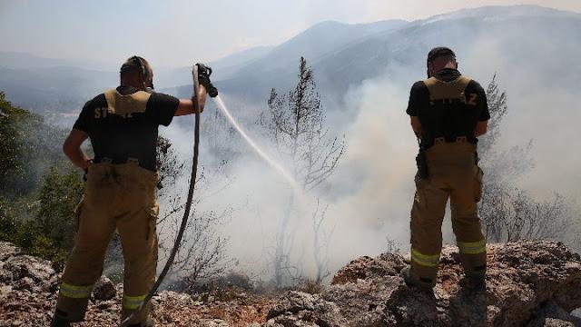 Βελτιωμένη η κατάσταση με την πυρκαγιά στα Βίλια - Μάχη με τις αναζωπυρώσεις