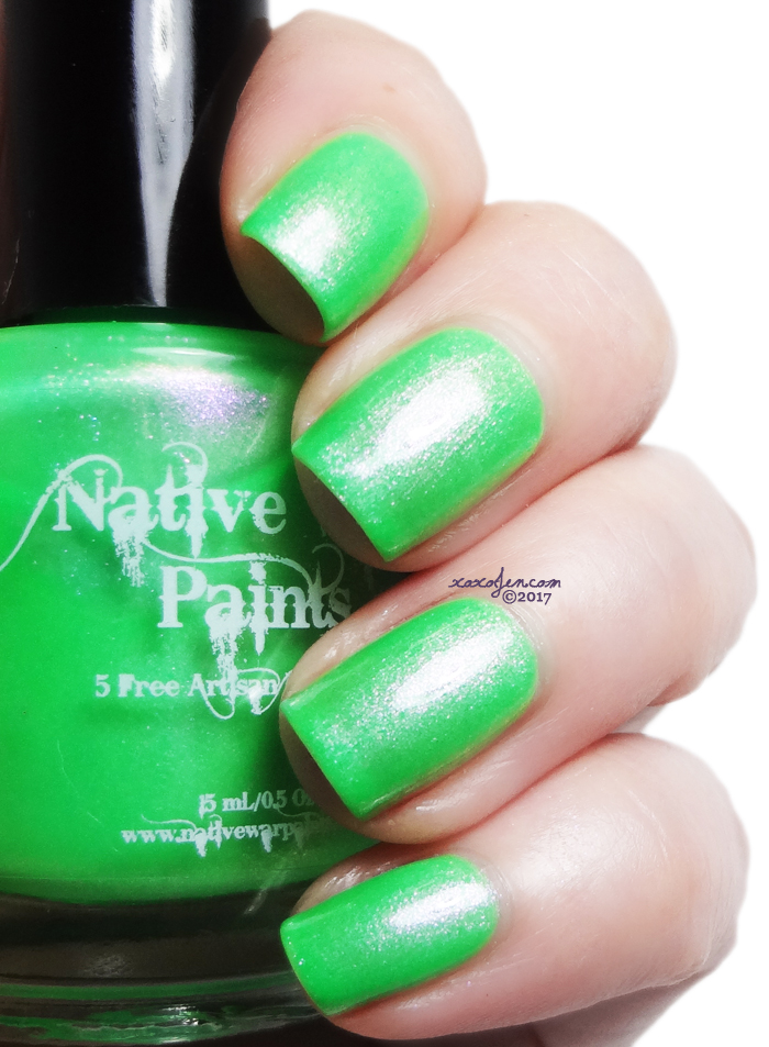 xoxoJen's swatch of Native War Paints Palm Trees and an Ocean Breeze