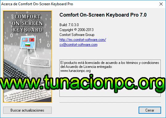 Comfort On-Screen Keyboard, Personaliza y Agrega Teclado Virtual Imagen