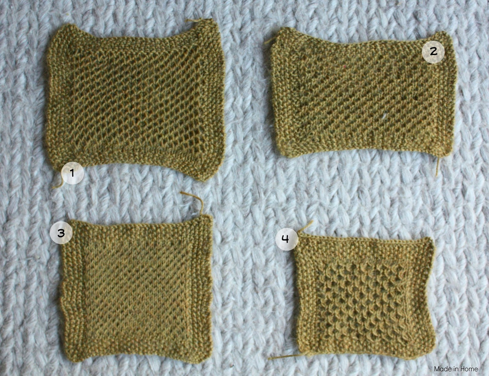 Made in Home: Study of honeycomb :: Knitting