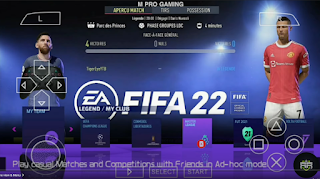 FIFA 22 PPSSPP Android Download PS5 Camera (Latest Transfer,Kits)