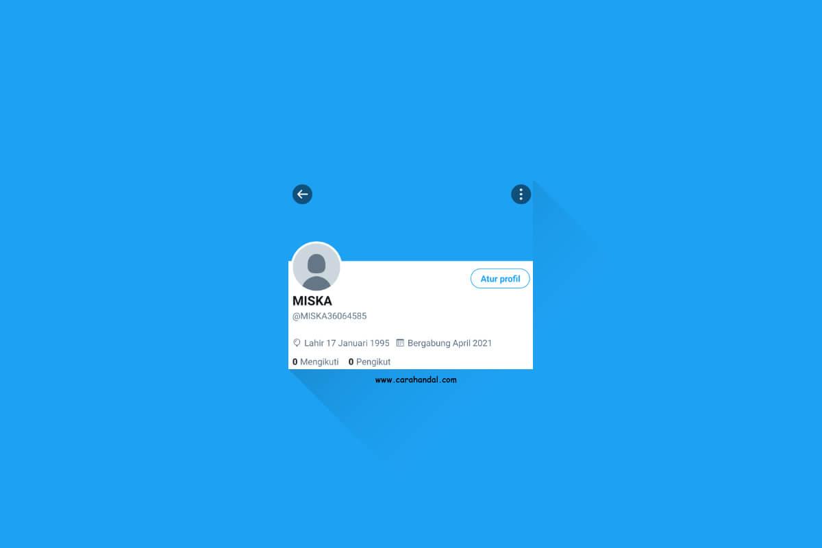 Cara Mengganti Foto Profil dan Sampul di Twitter