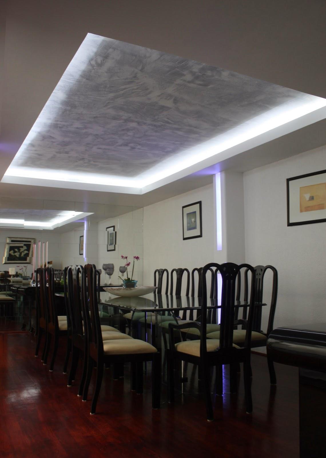 Plafones decorativos de tablaroca iluminaci n con focos for Iluminacion departamentos pequenos