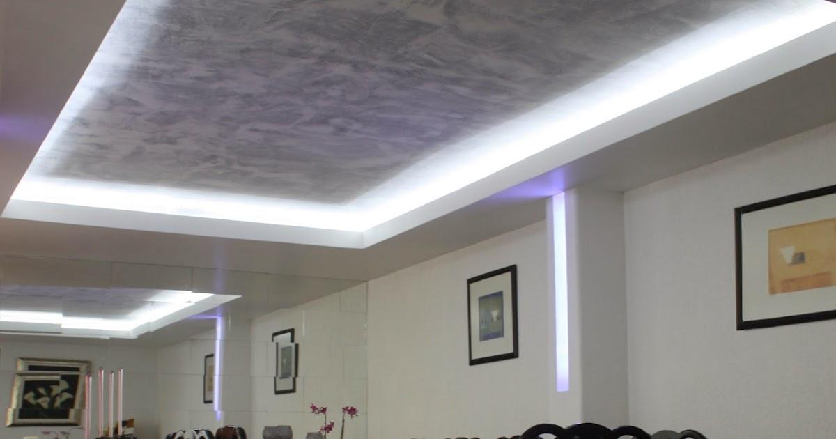 Plafones decorativos de tablaroca iluminacin con focos