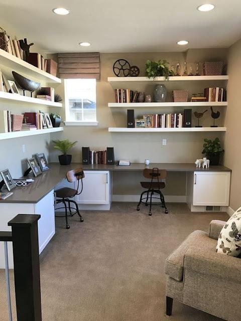 Home office em L