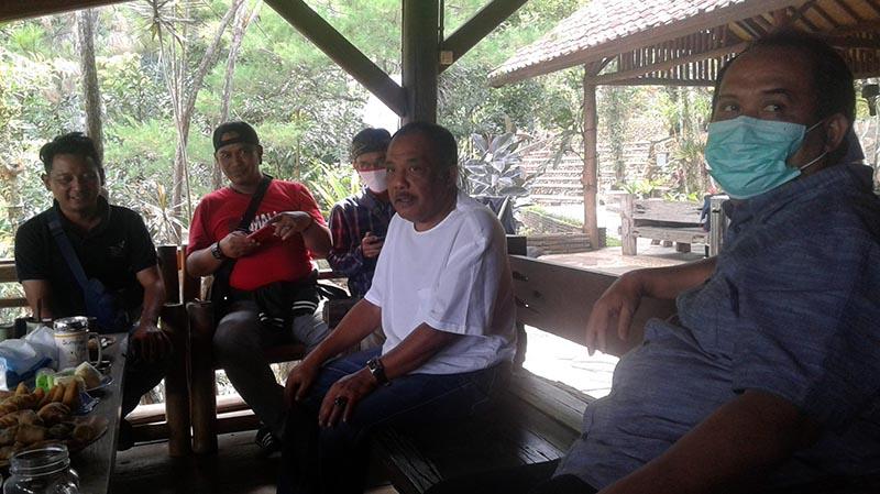 Jelang Pilkada Pangandaran, Jeje Sambangi Eka Santosa