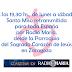 19:30 hs. Santa Misa retransmitida desde la Parroquia del Sagrado Corazón de Jesús, por Radio María, de lunes a sábado