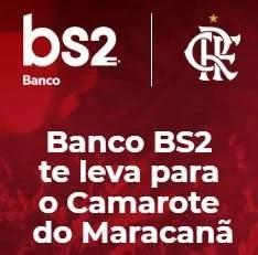 Cadastrar Promoção Banco BS2 Camarote Maracanã