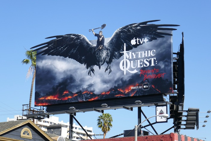 Mythic Quest Ravens Banquet series billboard