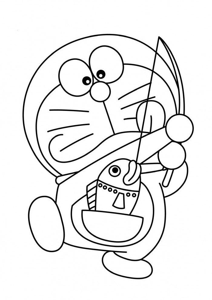 Gambar Doraemon Yang Belum Diwarnai Download Gambar