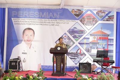 Gubernur Ridho Resmikan Kantor Dinas Penanaman Modal dan Pelayanan Terpadu Satu Pintu