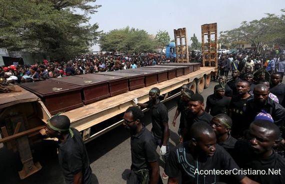 Cristianos nigerianos muertos por musulmanes