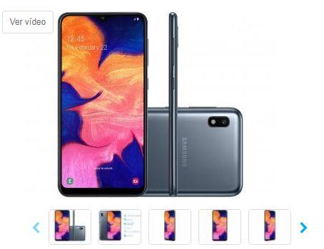 Smartphone Samsung Galaxy A10 32GB Preto 4G