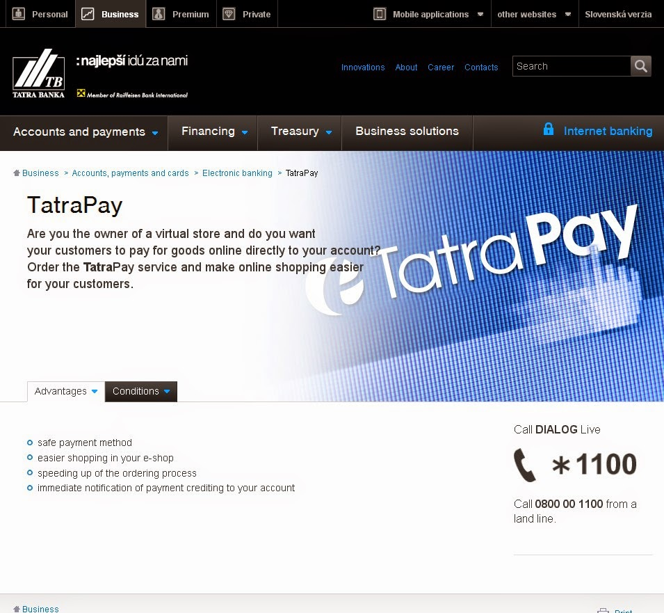 TatraPay Account Deposit Screen