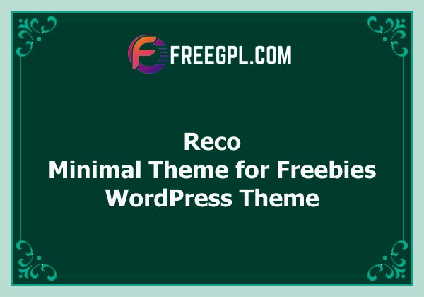 Reco - Minimal Theme for Freebies Nulled Download Free