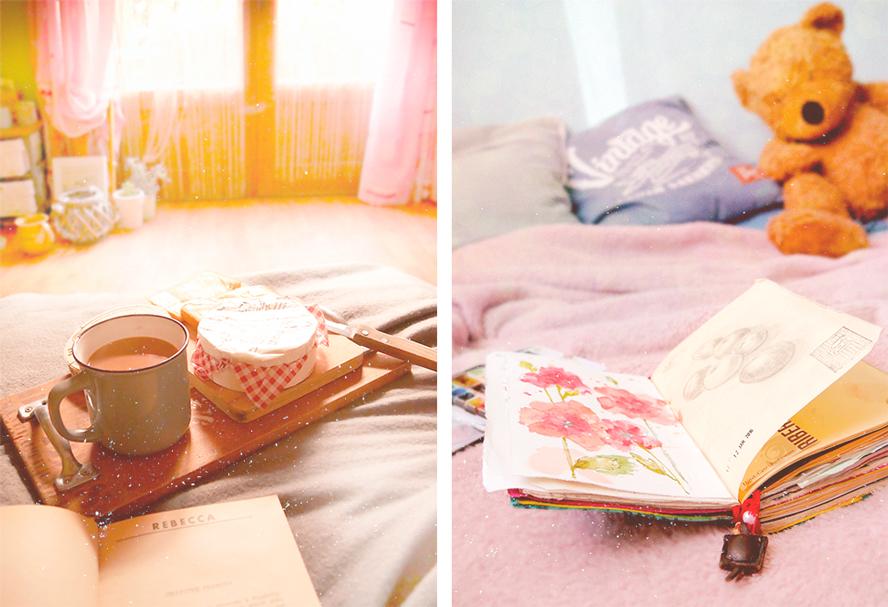 coffee breakfast sketchbook