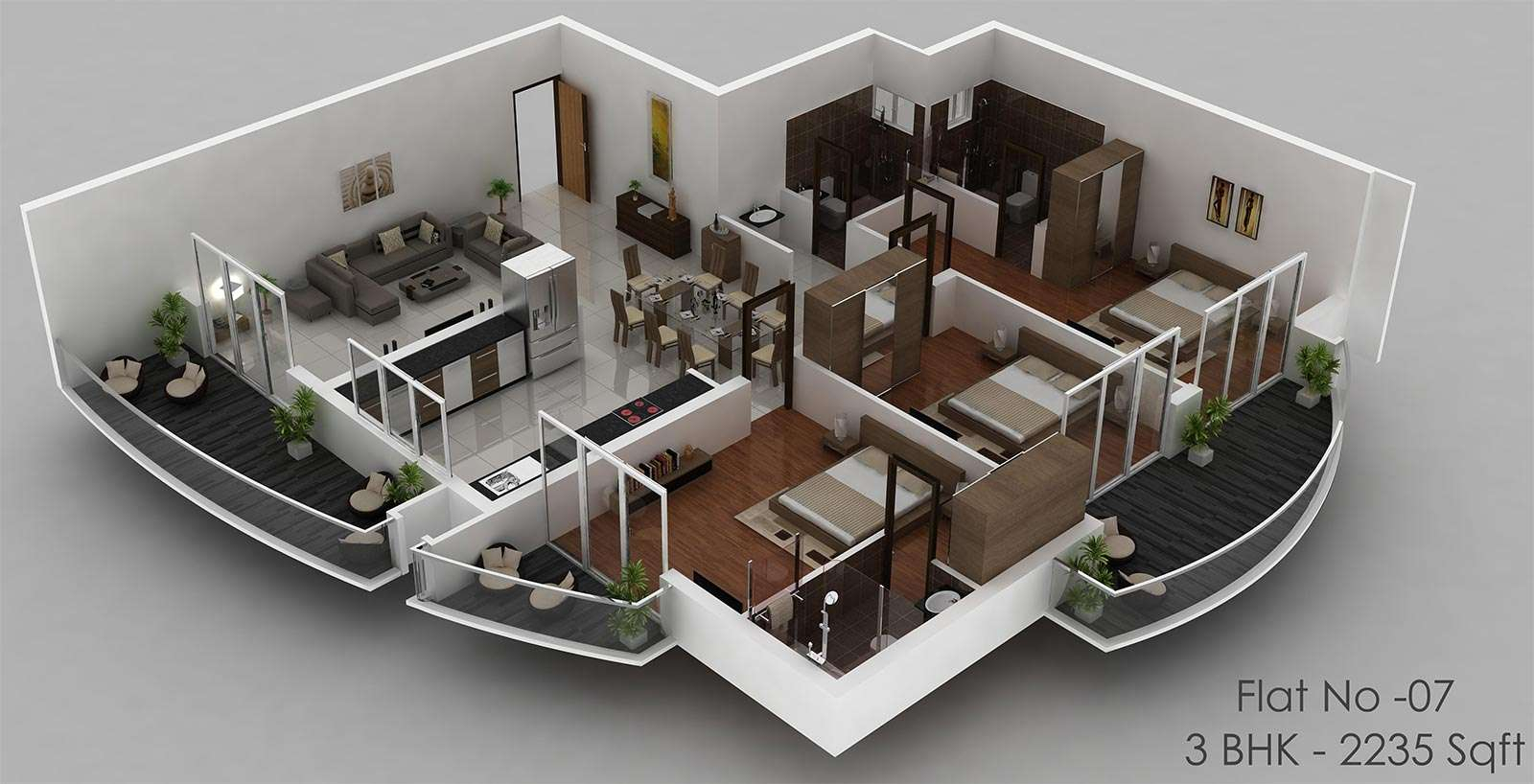 30 Modern 3D Floor Plans Help You To Make Your Dream Home ...