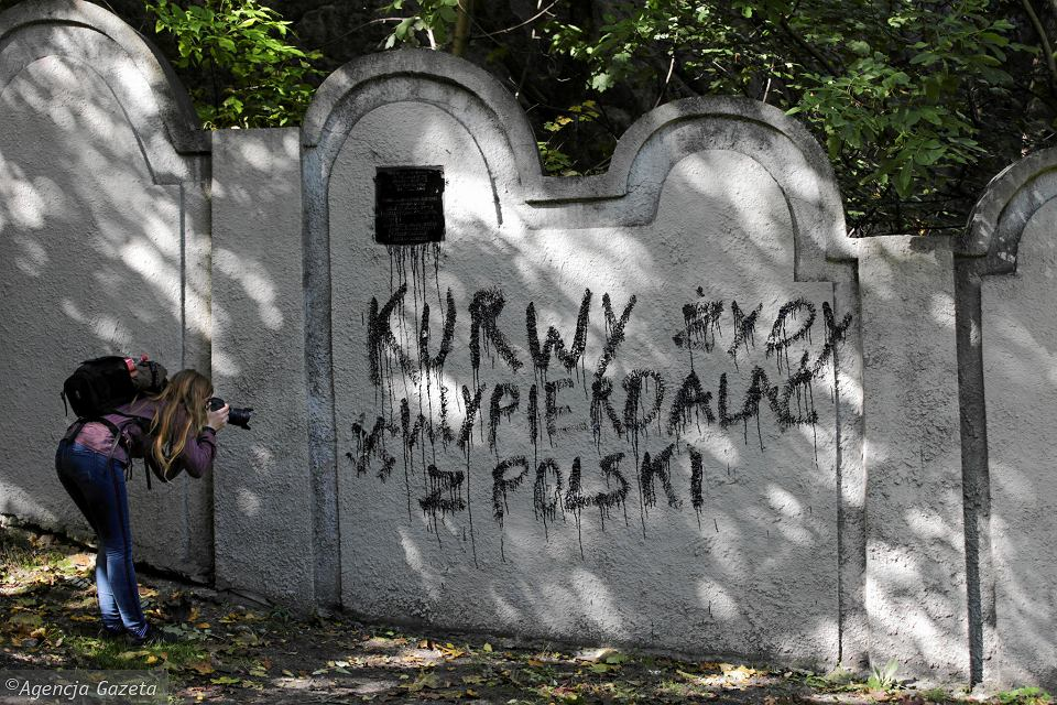 An Antisemitic Graffiti Was Sprayed On A Section Of The Krakow