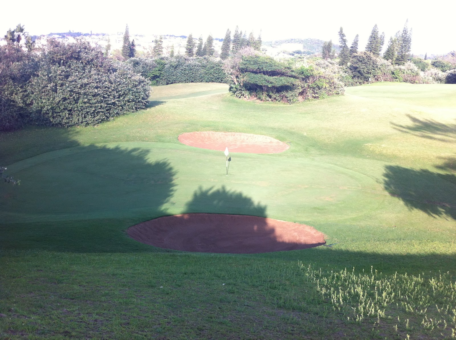 The Durban Country Club: Durban Country Club Golf Course: 4th Green Gets A Drainage