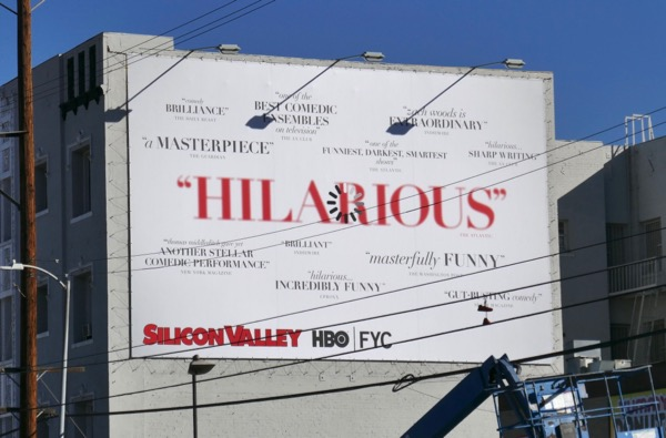Silicon Valley season 5 FYC billboard