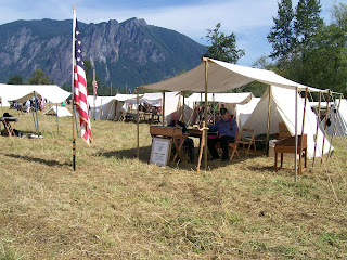 WCWA Snoqualmie Reenactment 2016 4th US Command Fly