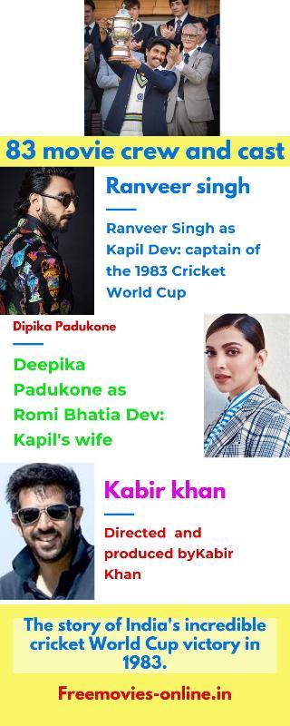 83 movie Full movie download online leaked by filmymaza, filmywap, khatrimaza, tamilrockers