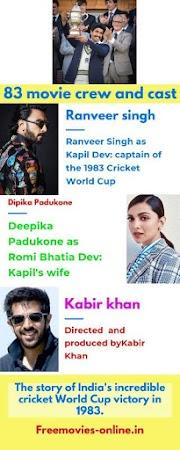 83 movie Full movie download filmymaza,tamilrockers, filmywap, khatrimaza,