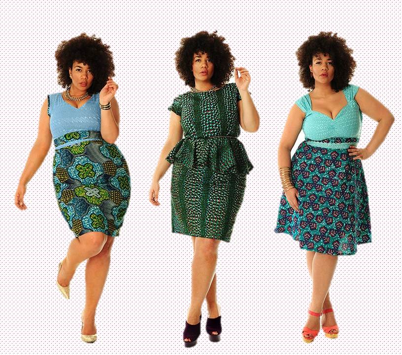 DearCurves plus size clothing, African Print