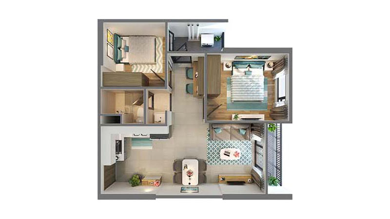 Căn 2 Phòng Ngủ