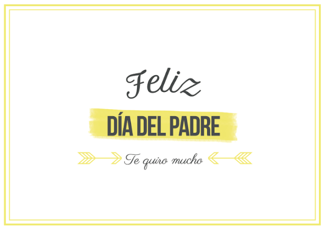 Bonita tarjeta para imprimir gratis para felicitar el Día del Padre