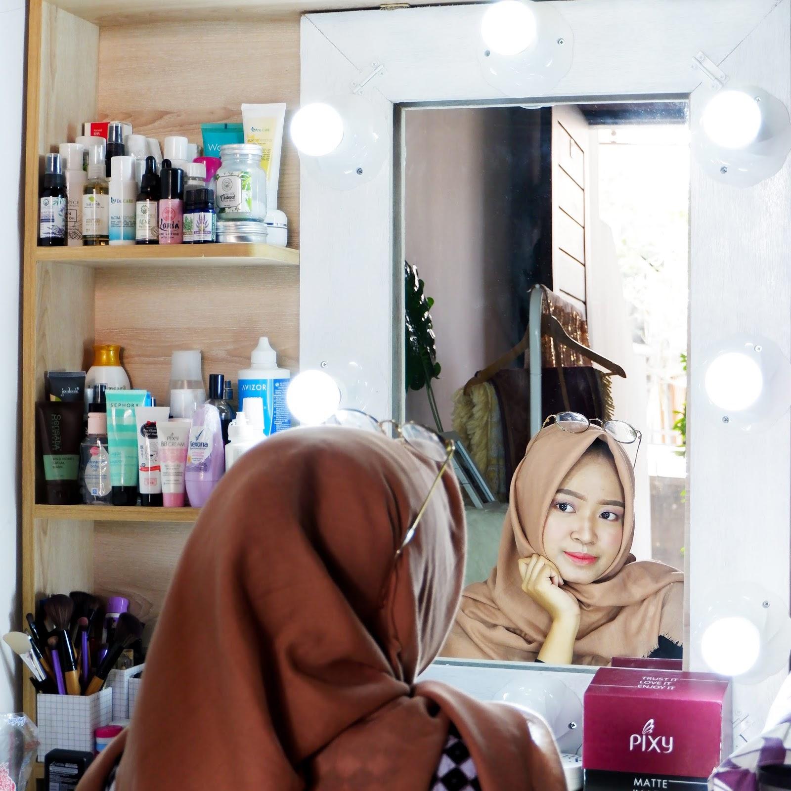 Cara Membuat Vanity Mirror Murah Meriah