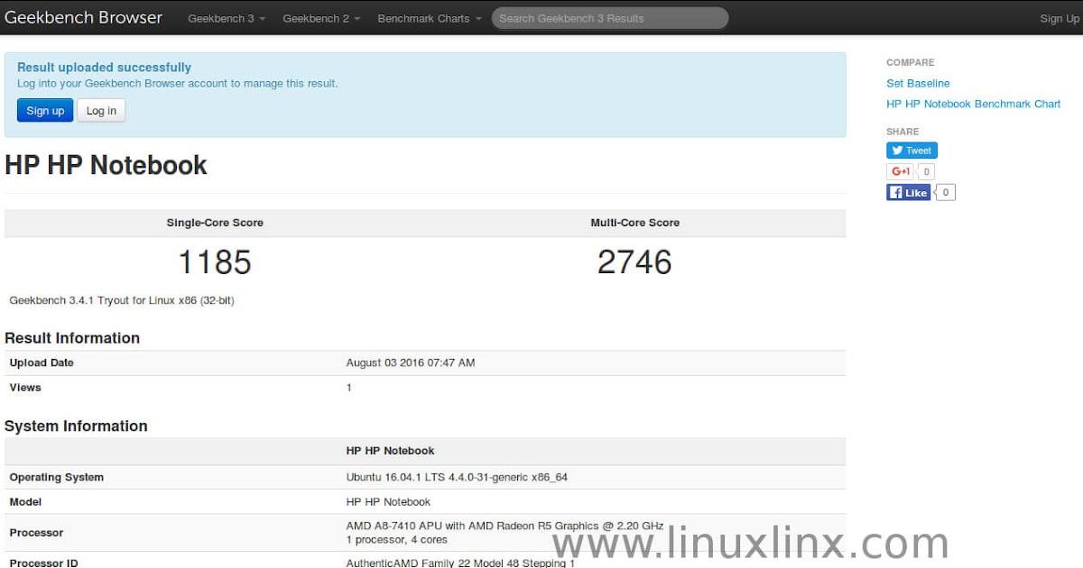 How to install Geekbench 3 on Ubuntu 16 04 1 | LinuxLinx