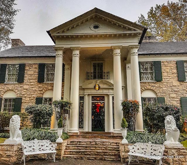 Graceland, a casa de Elvis Presley em Memphis, Estados Unidos