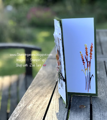 water colouring and die cutting images for handmade card making