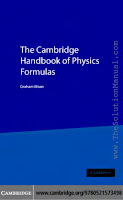A cambridge handbook for physics formulas