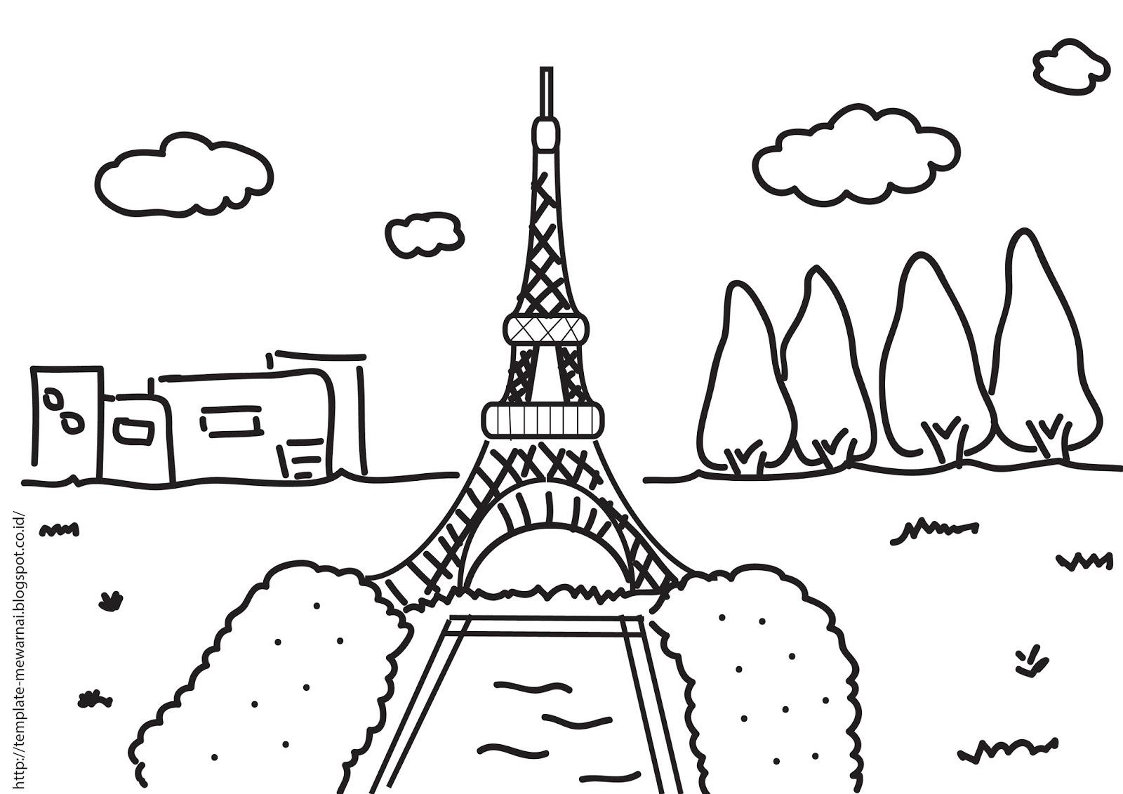 Menara Eiffel merupakan situs ikonik di Kota Paris Perancis warnai keindahannya di sini
