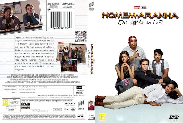 Capa DVD Homem-Aranha: De Volta ao Lar [Custom]