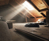 Sunlight shining into empty Attic prior to Insulation Installation by Foam Insealators of Maryland and Virginia