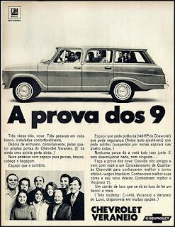 Propaganda Chevrolet Veraneio 1970, GM anos 70, Chevrolet década de 70, carros Chevrolet anos 70, Oswaldo Hernandez,