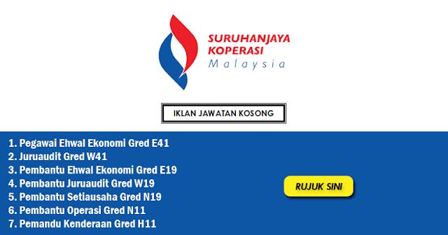 suruhanjaya koperasi malaysia jawatan kosong