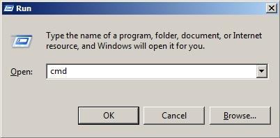 Hộp thoại Run với lệnh cmd truy cập command Windows