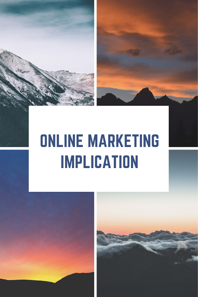 Online marketing implication