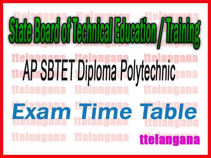 AP SBTET Diploma Polytechnic C-96 Time Table