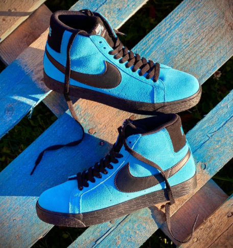 "Nike SB Zoom Blazer ""Highlighter"" Baltic Blue"