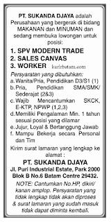 Lowongan Kerja PT. Sukanda Djaya