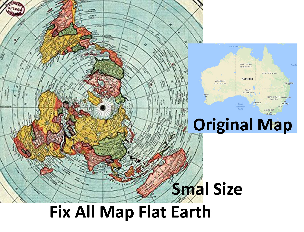 Change globe earth to flat earth mode not suitable