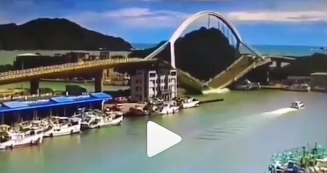 Jembatan Yilan Taiwan Ambruk