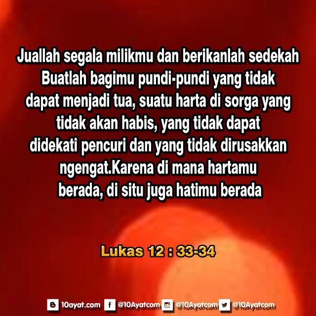 Lukas 12:33-34